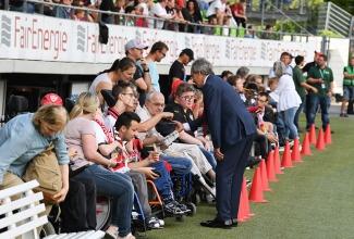 Soziales Engagement - VfB vs. Bebilla Sevilla (06.08.17)