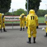 Corona-Kick an der Reutlinger Kreuzeiche:  Feuerwehr fordert Oberliga-Fußballer des SSV heraus