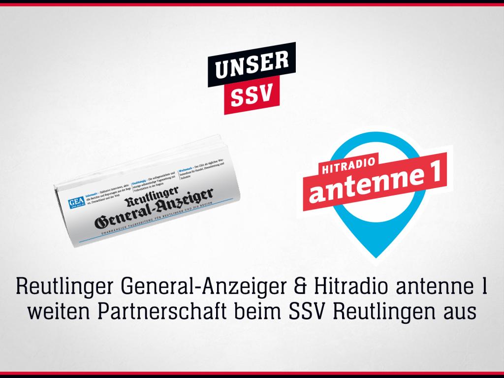Sponsoring SSV Reutlingen: Hitradio antenne 1 & Reutlinger General-Anzeiger