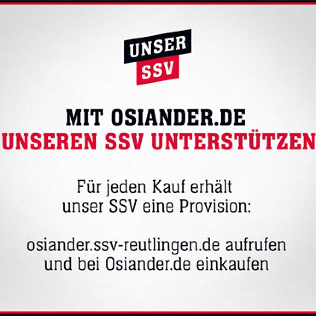 Onlineshopping-Kooperation SSV Reutlingen - Osiander