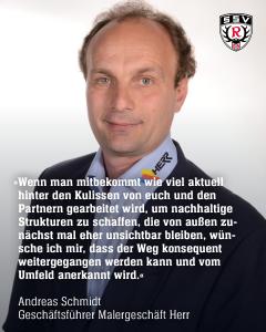 Statement Andreas Schmidt, von der Maler Herr GmbH über den SSv Reutlingen