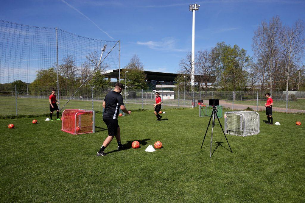 Training beim SSV Reutlingen mit Footbonaut