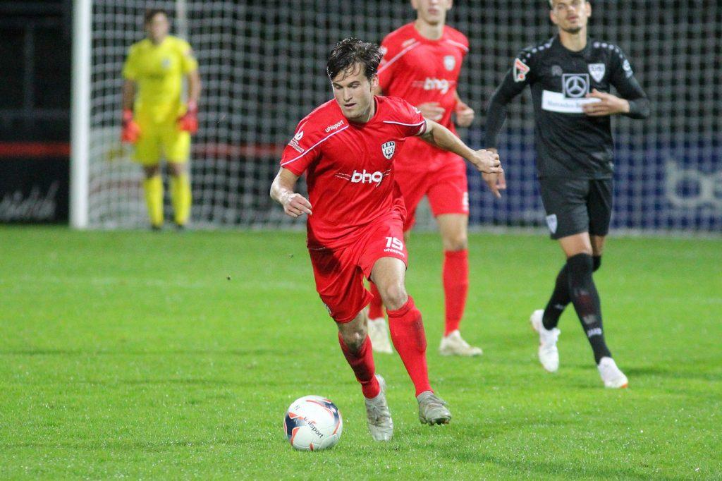 Tom Schiffel gegen den VfB Stuttgart II