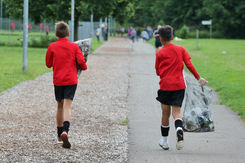 iPoint Müllsammel-Challenge beim SSV Reutlingen 05